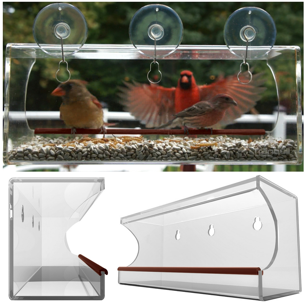 window bird feeder by tranquil outdoors